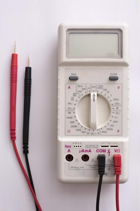 Electronics multimeter electrical test device with probes - free stock photo from www.freeimages.co.uk