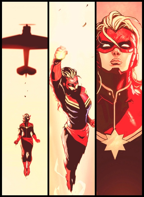 Captain marvel is easily becoming one if my favorite marvel characters :)