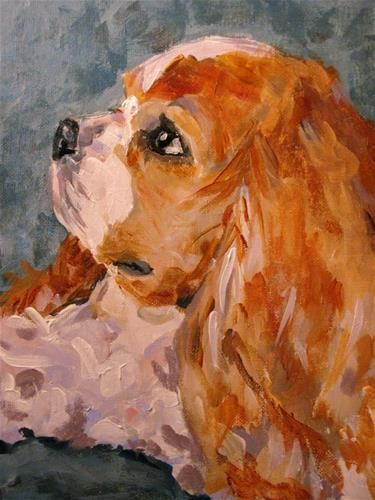 """Puppy Prayers"" - Original Fine Art for Sale - © Susan E Jones"