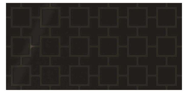 "Daltile SH14-1224B1P2-SAMPLE Ceramic Black Wall Tile - 12"" X 24"" (Sample) Black Tile Sample"