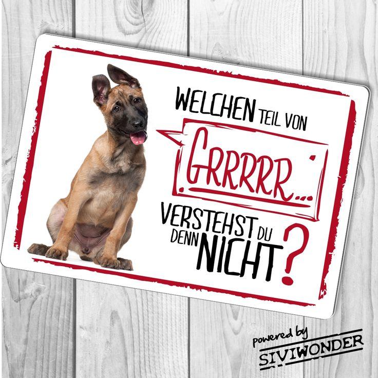 Belgian Malinois belgischer Schäferhund Warnschild Türschild lustig süß Schild Sign http://www.siviwonder.de/shop/index.php?cat=c235_--Schilder--Warnschilder.html