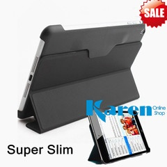 Apple iPad Mini Case Leather Smart Cover Super Slim With 2 Fold Stand+sp Black