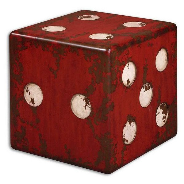 Uttermost Dice Red Accent Table   24168 ($669) ❤ Liked On Polyvore  Featuring Home