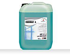 Innomat A este o solutie profesionala recomandata pentru curatarea manuala sau automata a suprafetelor supuse unui trafic intens.