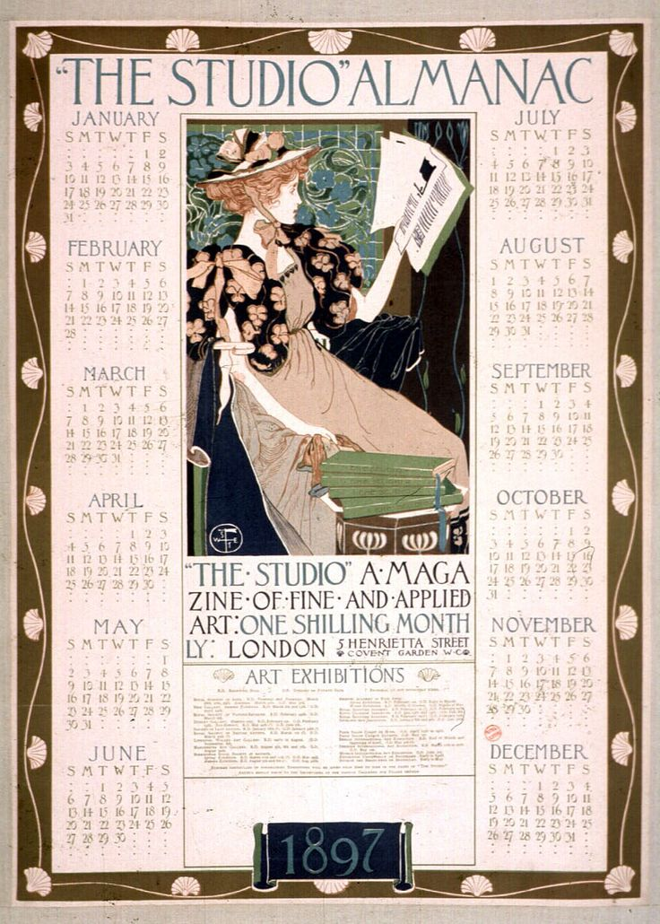 Art Calendar Magazine : The studio almanac calendar a