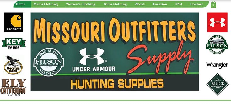 Missouri Outfitters Supply is our online store! Selling Carhartt, Under Armour, Key, Wrangler, Filson, Georgia Boot, Muck Boot and More!