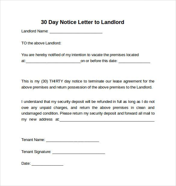 30 Days Letter To Landlord from i.pinimg.com