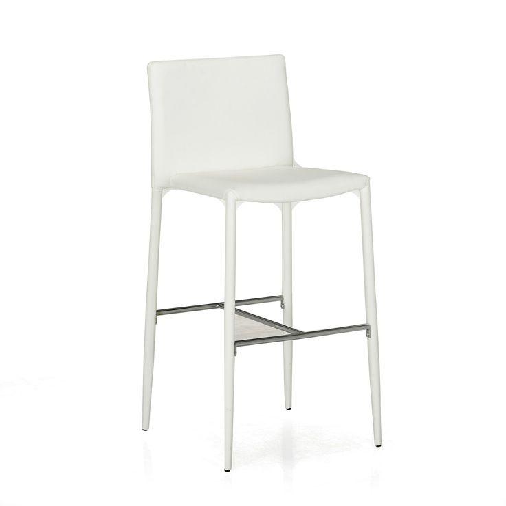 Chaise de bar blanc blanc slash tabourets hauts - Alinea chaises salle a manger ...