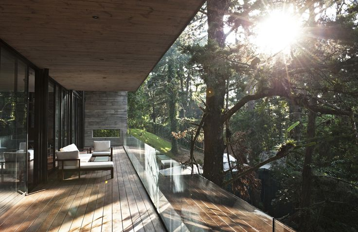 Opening in the wall + balcony.: Forests Houses,  Sawmil, Trees Houses, Peace Architecture, Glasses Wall, Casa Corallo, Central America, Houses Design, Design Blog