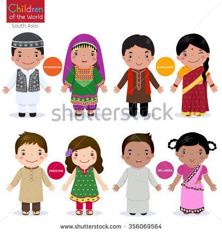 Kids in traditional costume (Afghanistan, Bangladesh, Pakistan and Srilanka)