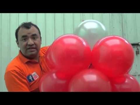 como colgar globos en carpas. globos chasty - YouTube ...
