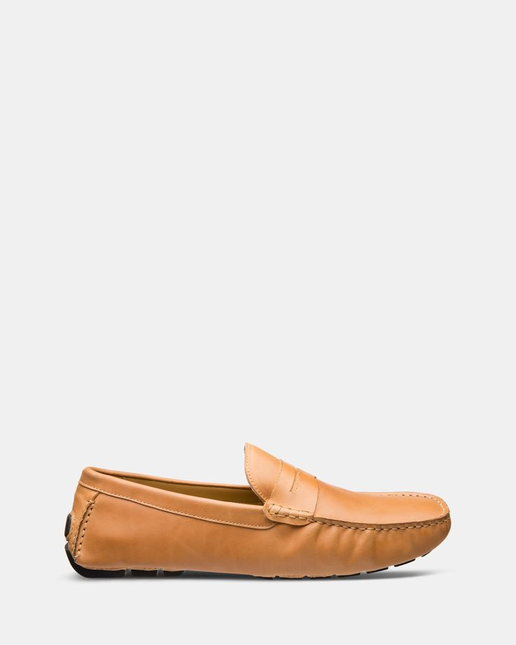 FÅNE - Flap Camel Brown Leather Loafers