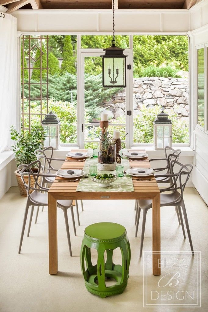 Kartell Masters chairs in grey are beautiful with this teak table and green  hues. 131 best images about Kartell   Chairs   sofas in situ on