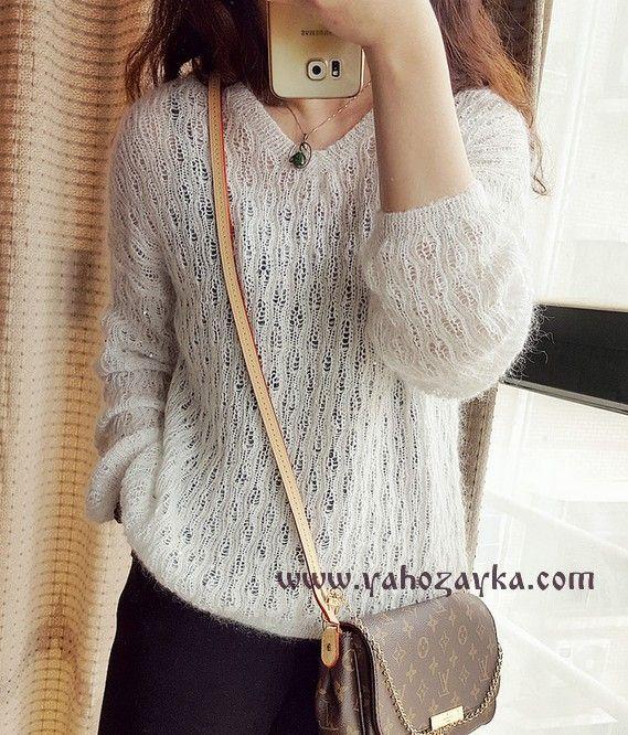 Пуловер из мохера спицами схема. Как связать пуловер из мохера | Я Хозяйка