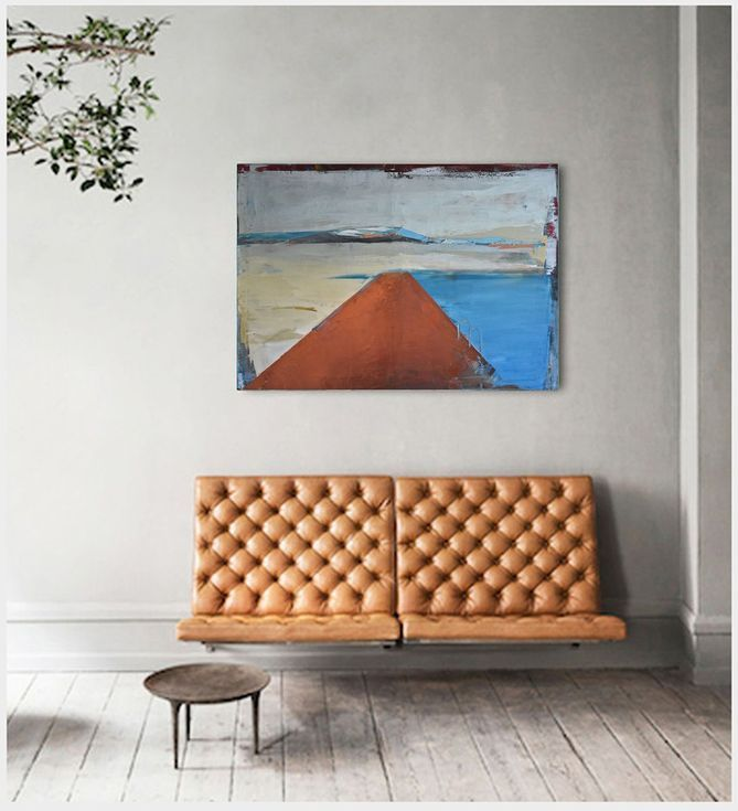 "Buy Oil painting, canvas art, stretched, ""Lake 70"" , 39.37/27.5 inches, (100/70cm)., Oil painting by Karina Antończak on Artfinder. Discover thousands of other original paintings, prints, sculptures and photography from independent artists."