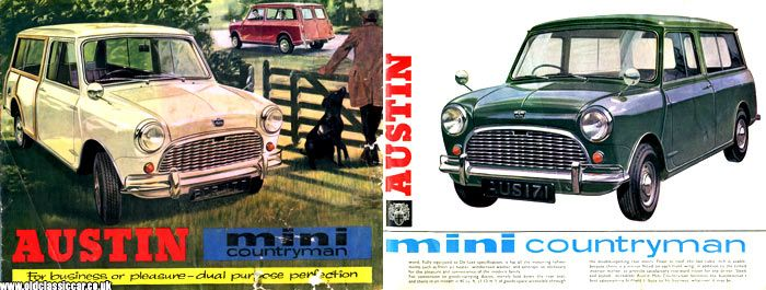 Brochure images of the Mini Countryman