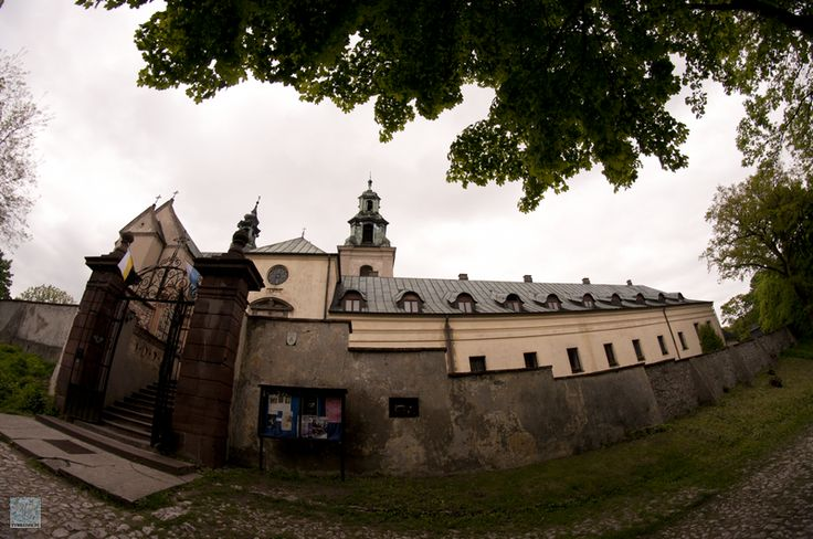 Karczówka monastery in Kielce, Poland. Church and monastery in natural reserve