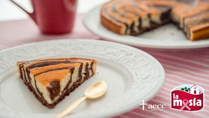 #Bizcocho #cebra. Un dulce delicioso. Ideal para merendar o desayunar. La receta completa, en nuestro blog.
