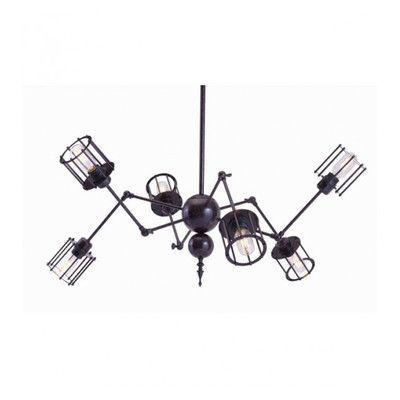 dCOR design 6 Light Sputnik Chandelier