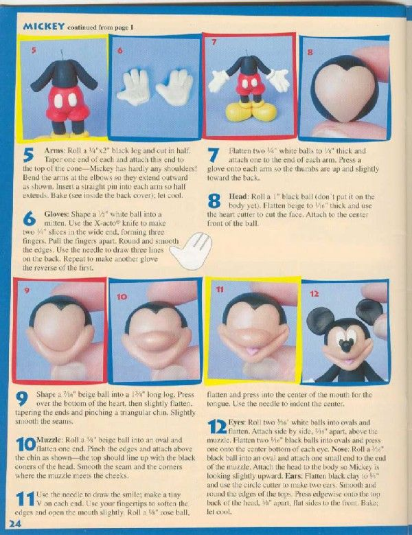 Polymer Clay - Character collection ( Disney )