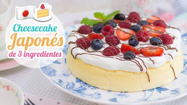 Cheesecake Japonés de 3 ingredientes | Quiero Cupcakes!
