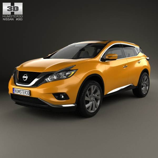 Nissan Murano (Z52) 2015 3d model from humster3d.com. Price: $75