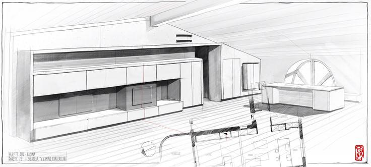 #wallunit #interiors #sketch #architecture