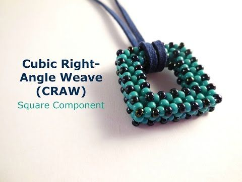 Demi Round Rivoli Bezel (Pendant, necklace, or earrings) with Cubic Right Angle Weave (CRAW) ~ Seed Bead Tutorials