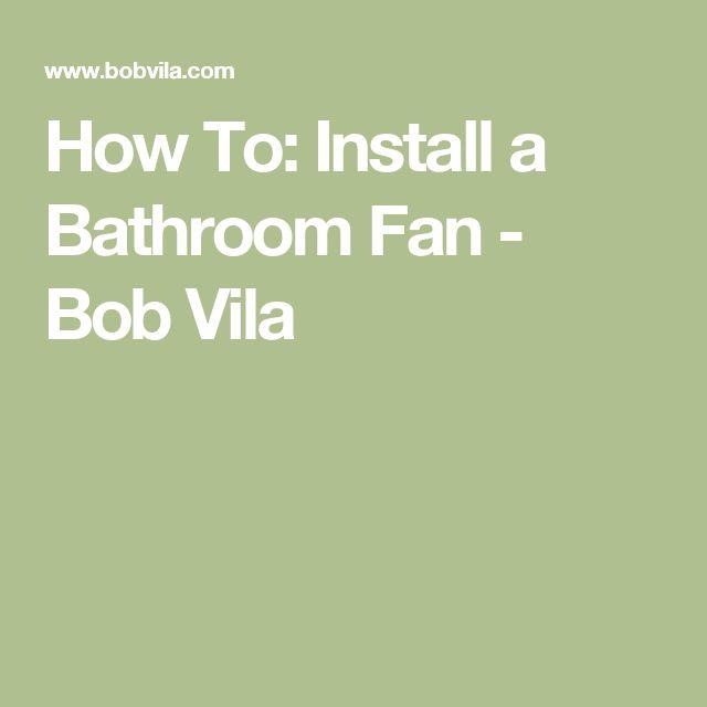 Image Of The best Bathroom fans ideas on Pinterest Bathroom exhaust fan Ventilation system and Attic fan