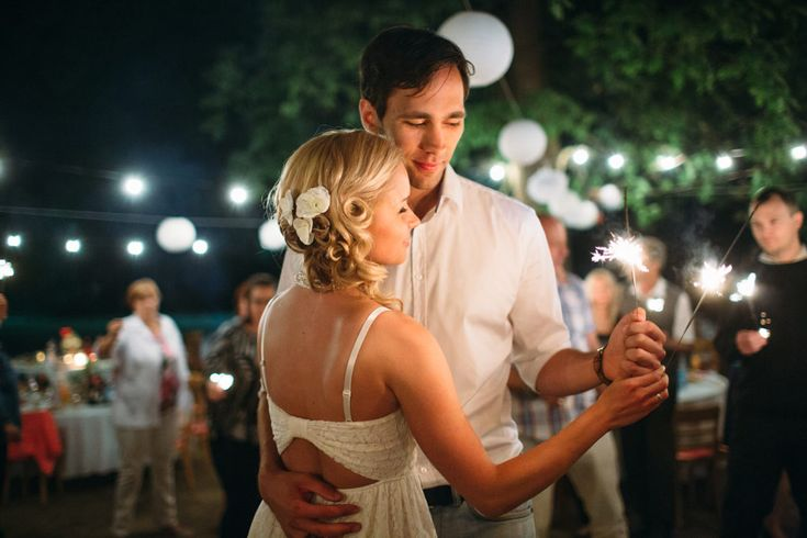 DIY rustic forest wedding in Budapest. I love first dances with sparkles!
