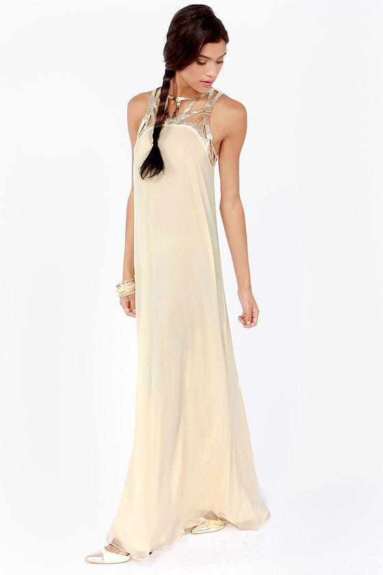 17 Best ideas about Cream Maxi Dresses on Pinterest | White maxi ...