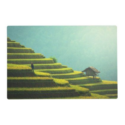 #China agriculture rice harvest placemat - #country gifts style diy gift ideas