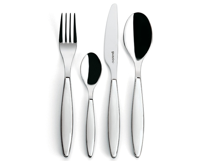 Guzzini Feeling 24 Piece Cutlery Set, White