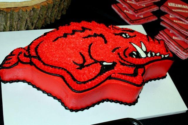 Image result for Arkansas razorback cake
