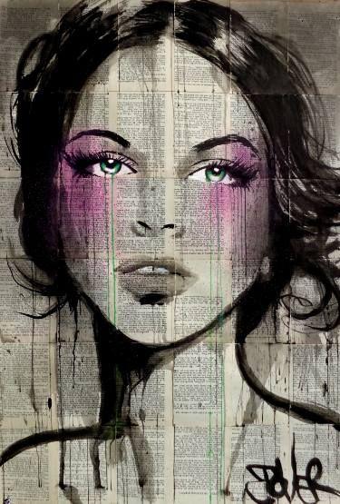 "Saatchi Art Artist LOUI JOVER; Drawing, ""green violet"" #art"