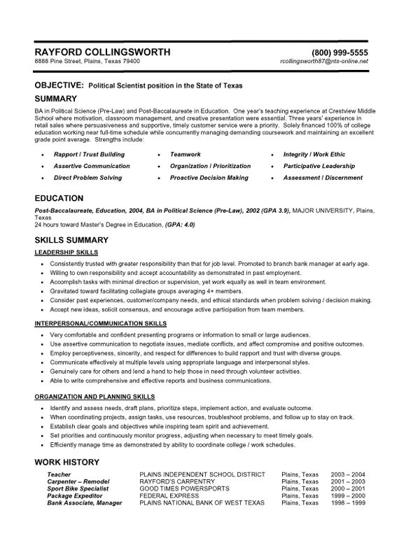 Sample Functional Resumes ResumeVault Business/ Education