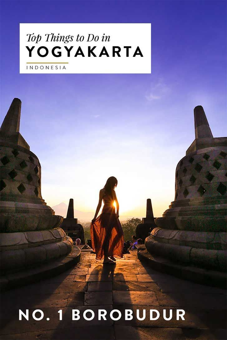 Borobudur at sunrise is a breathtaking experience. Read more about other top things to do in Yogyakarta (Jogja) Indonesia!