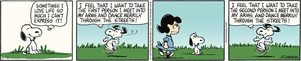 Peanuts Cartoon for Sep/15/2012