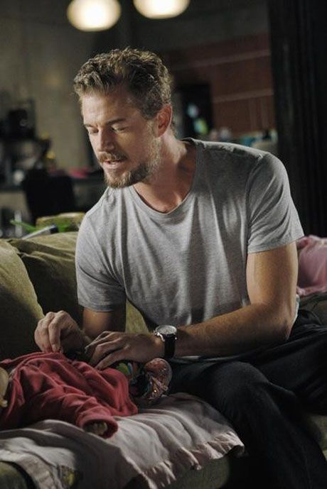 Mark and Baby Sofia on Grey's Anatomy Season 8, Episode 4