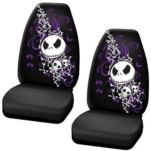 Nightmare Before Christmas Jack Skellington Purple Bats and Cross Bones Tim Burton Disney Car Truck SUV Universal-fit Bucket Seat Covers - PAIR LA Auto Gear http://smile.amazon.com/dp/B00KPYBM8K/ref=cm_sw_r_pi_dp_V.mfub18K1S4K