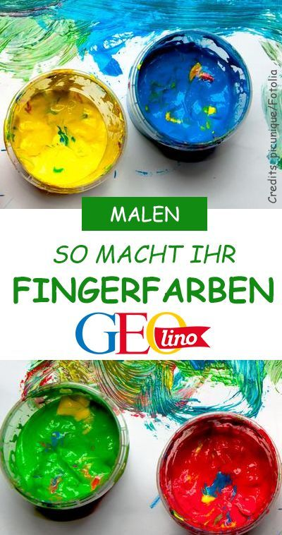 Fingerfarben selber machen: So geht's!