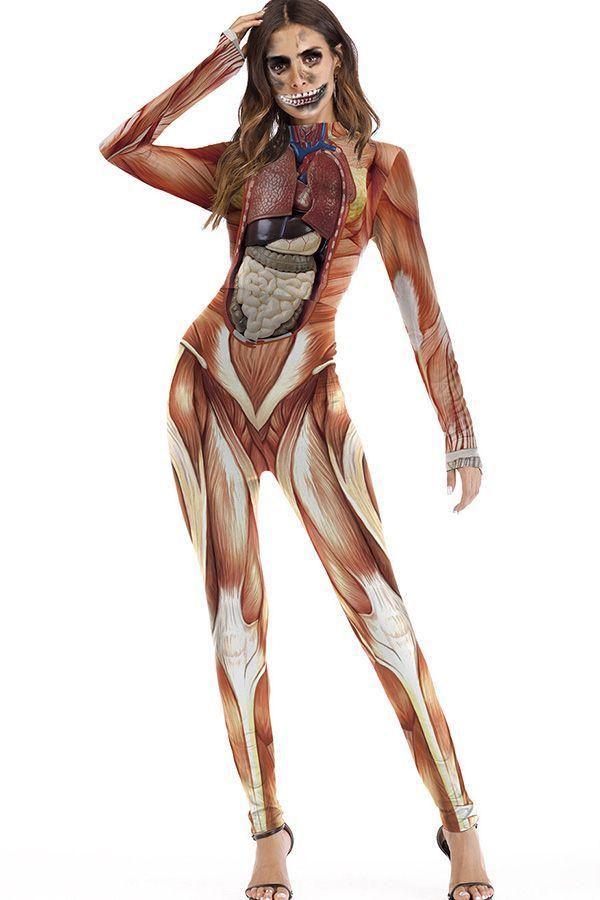Halloween Lot Bodysuit Jumpsuit Muscle Skeleton Pants Skirt Dress Party Fancy
