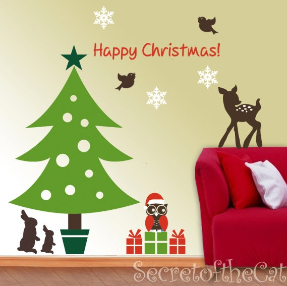 Unique Wall Decorations For Christmas Motif - Wall Art Design ...