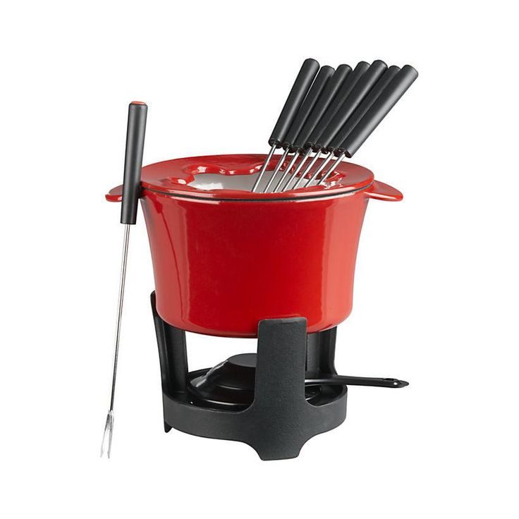 Cast Iron Fondue Set - Gifts for Foodies - Southernliving. BUY IT: $39.95; crateandbarrel.com Fondue has remained a party staple since the craze first hit in the '70s. This set will be a welcome gift for anyone who cooks, entertains, and likes to have fun.