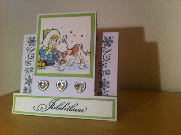 Christmas card - love the rubberstamp <3