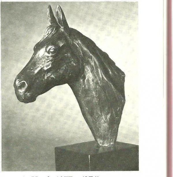 #Bronze #sculpture by #sculptor Enzo Plazzotta titled: 'Horses Head (small bronze sculpture/Bust/statue/statuette for sale)'. #EnzoPlazzotta