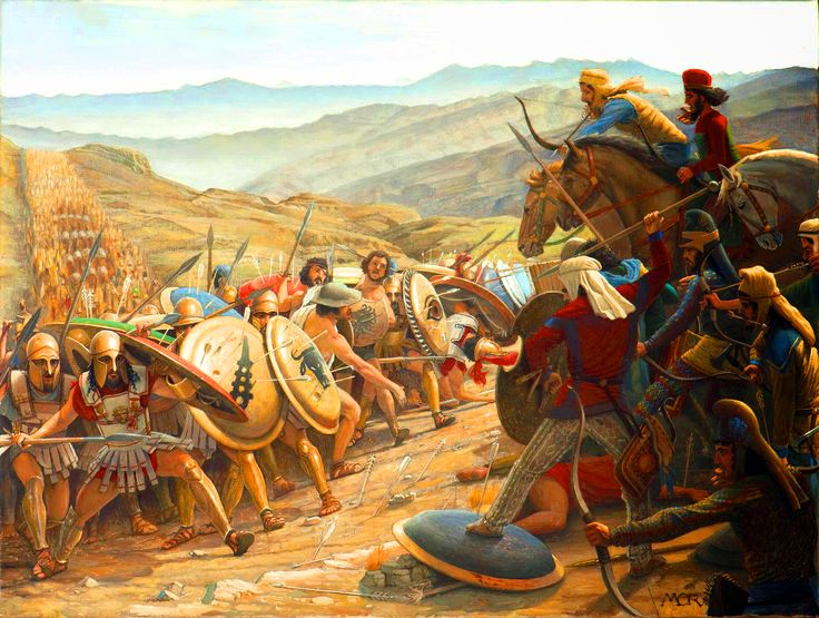 Battle between the Greeks and the Persians