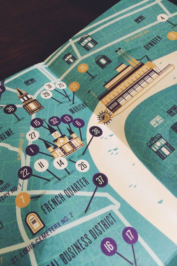 Herb Lester New Orleans Map by Adam Grason, via Behance