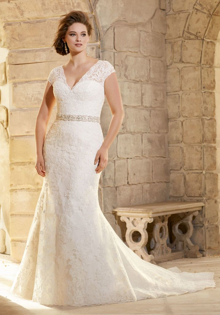Embroidered Liques On Net With Wide Hemline Border Morilee Bridal Wedding Dress