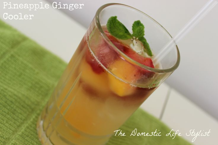 Pineapple and ginger drink: Nothing goes to waste in this recipe because it's made with the peel of the pineapple!